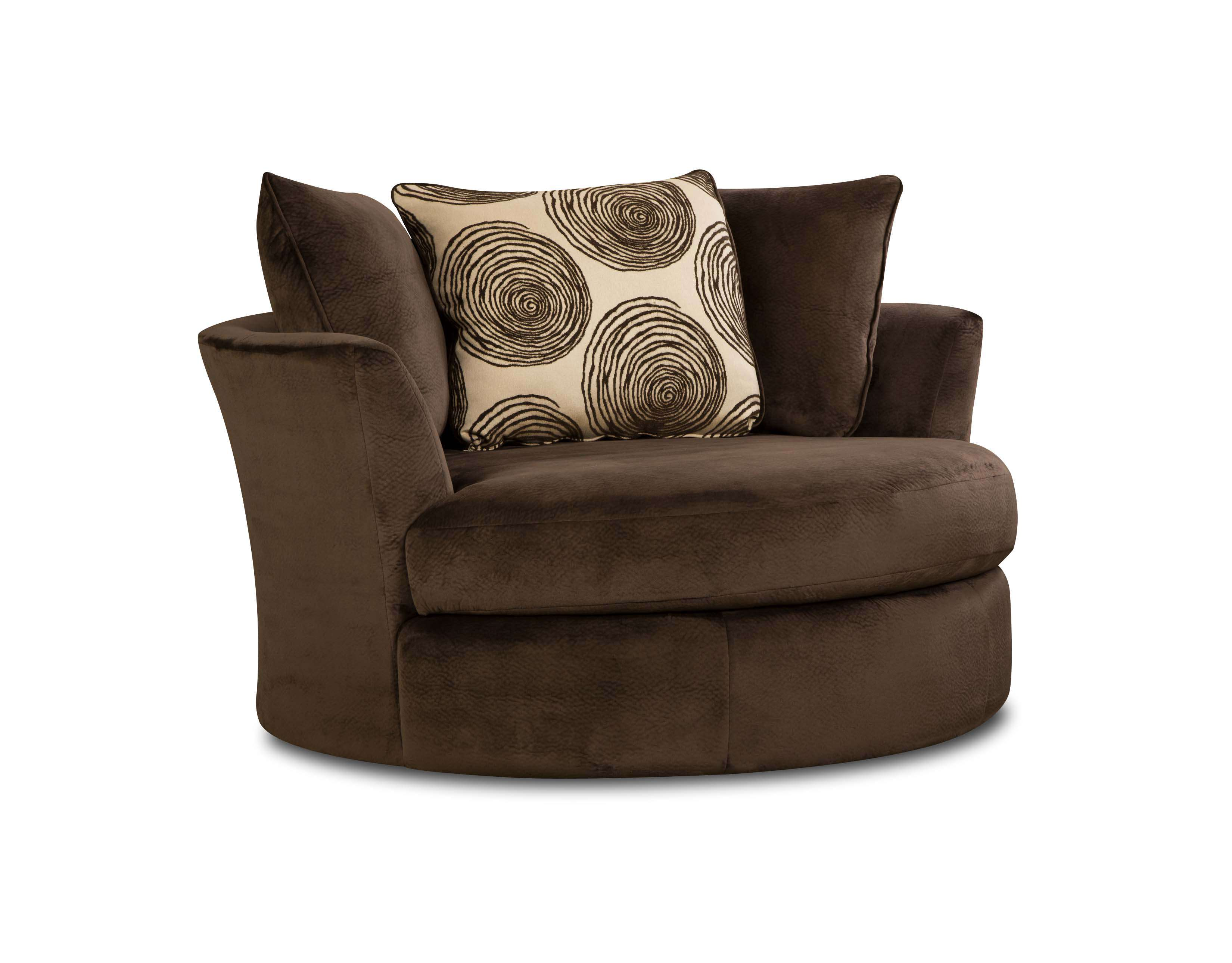 Peachy Chelsea Home Rayna Groovy Chocolate Swivel Chair With Big Swirl Chocolate Pillow Reviews Goedekers Com Bralicious Painted Fabric Chair Ideas Braliciousco