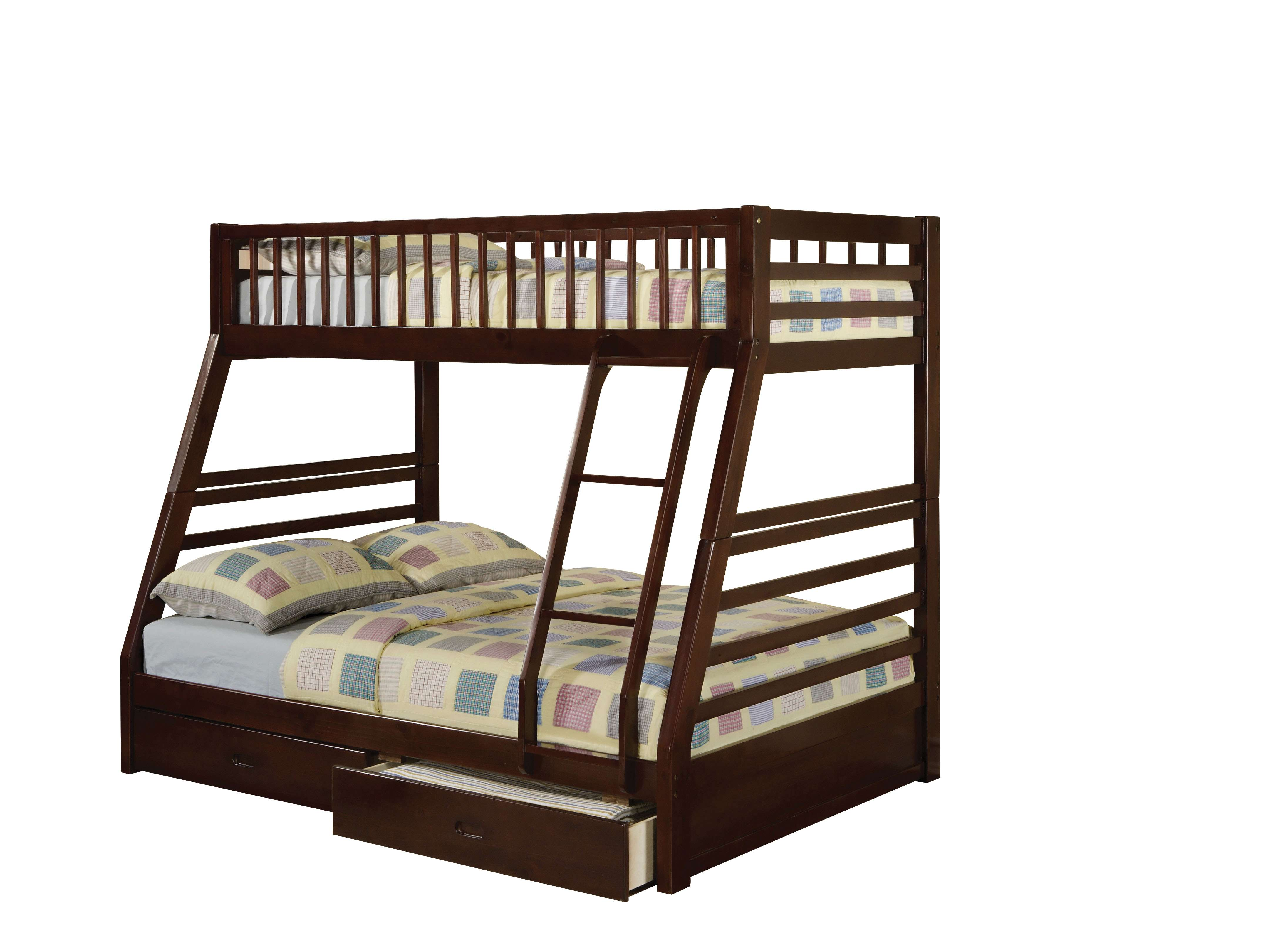 Acme Furniture Jason Espresso Twin Full Bunk Bed Drawers Reviews