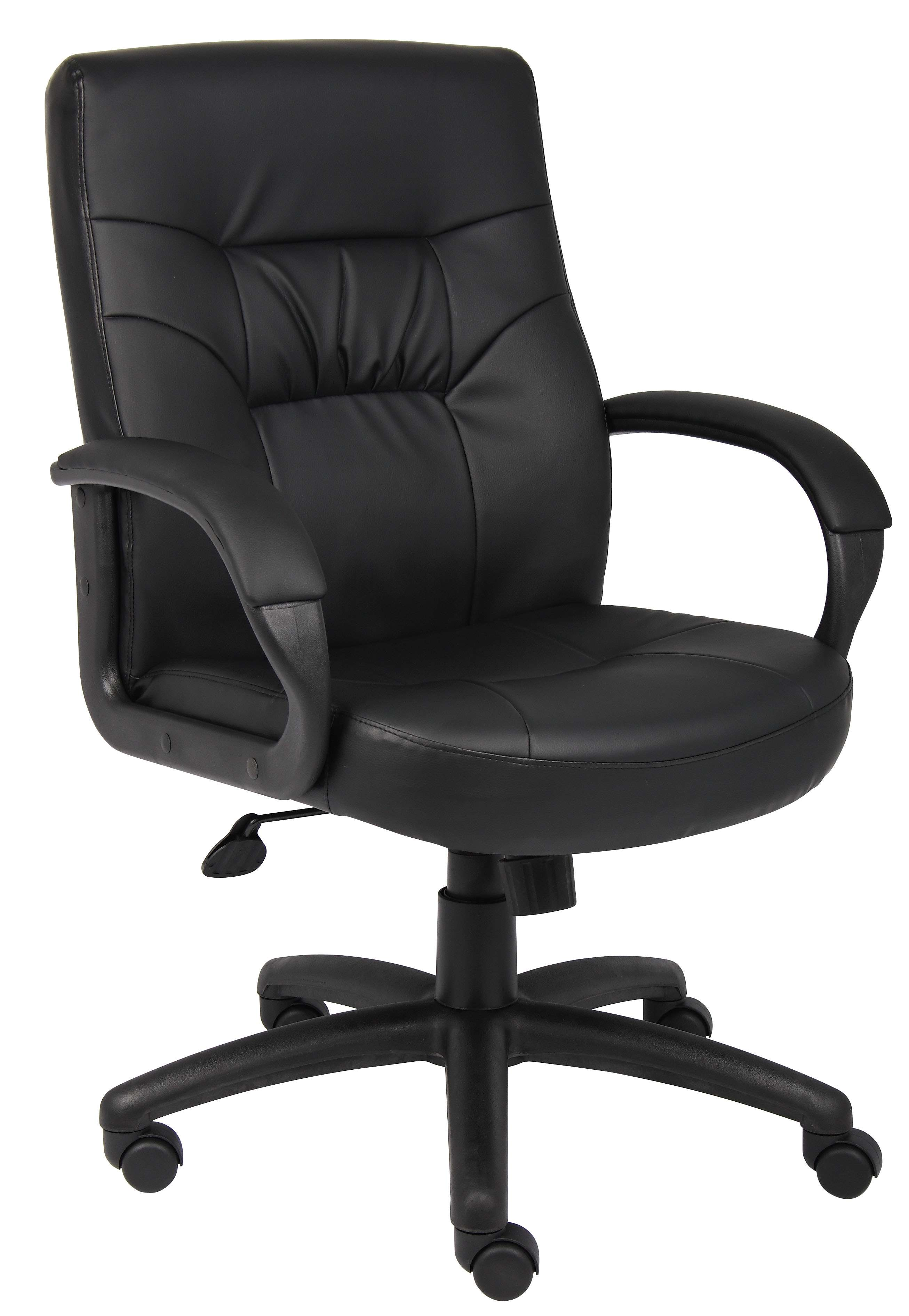 Exceptionnel Black LeatherPlus Mid Back Executive Chair