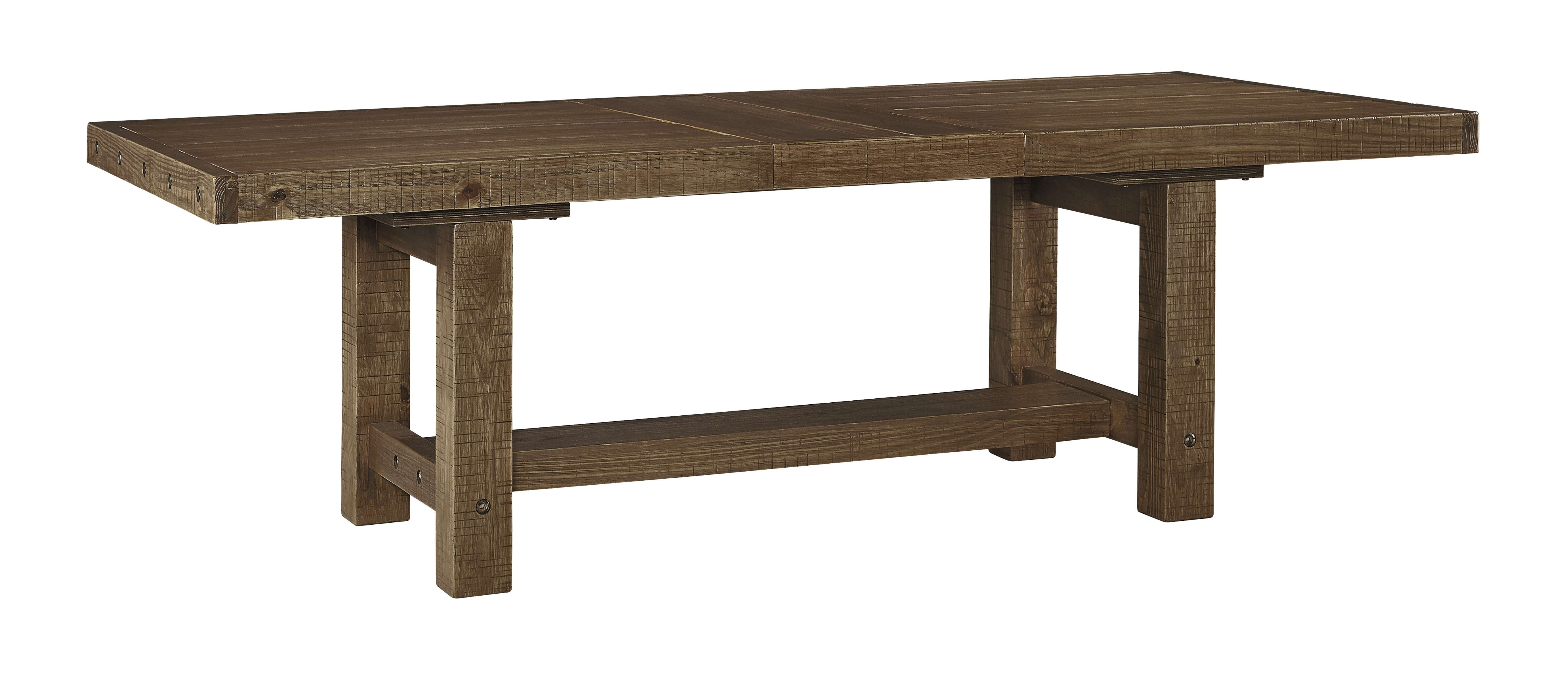 Tamilo Gray/Brown Rectangle Dining Room Extension Table