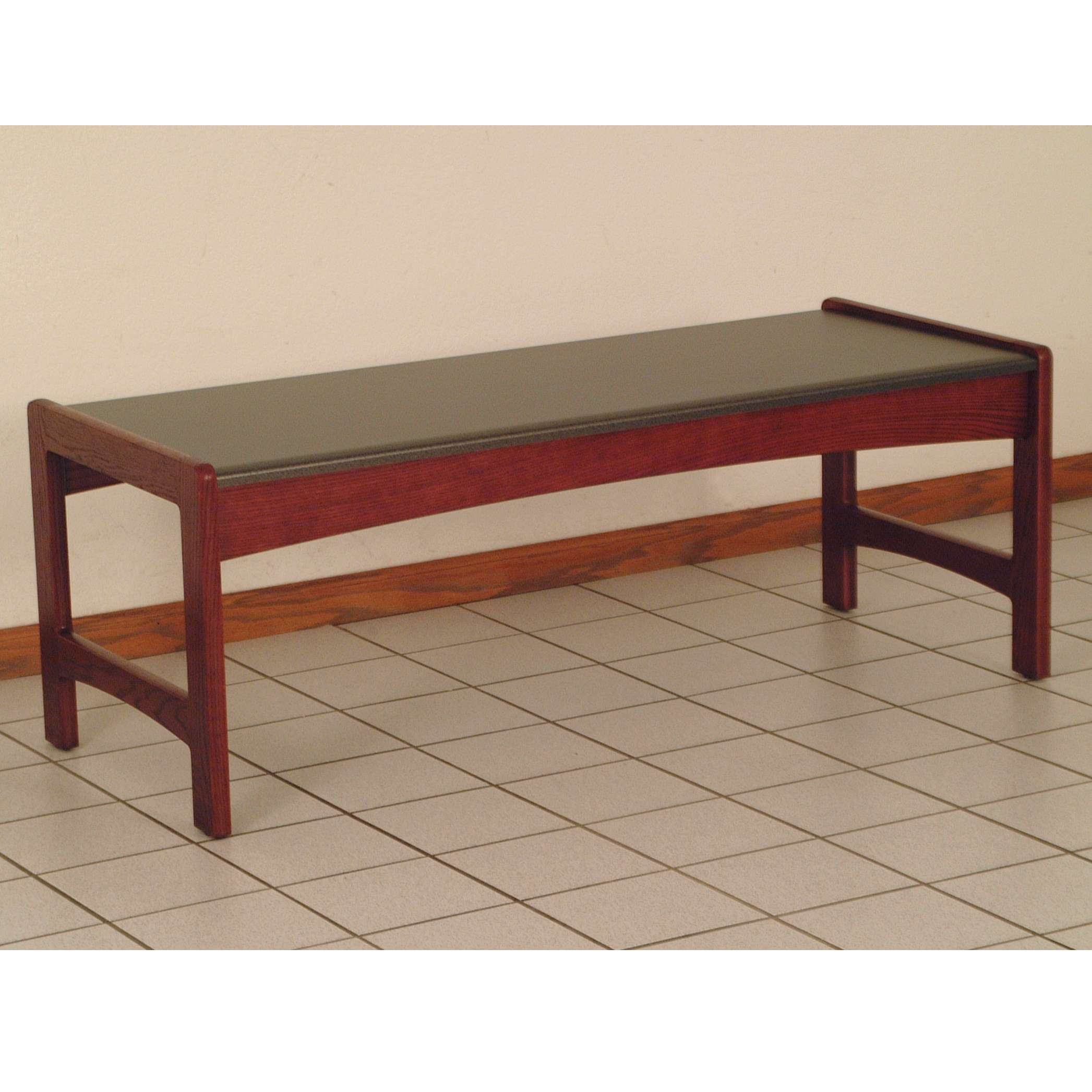 Delicieux Mahogany Coffee Table With Black Granite Look Top