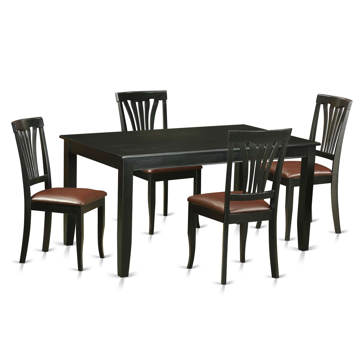 Superb East West Furniture Duav5 Blk Lc Gmtry Best Dining Table And Chair Ideas Images Gmtryco
