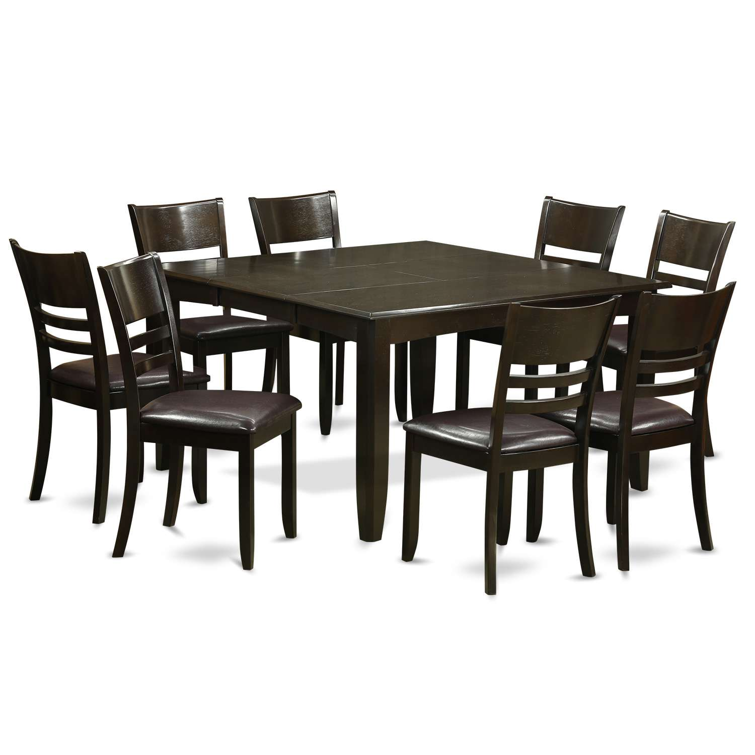 East West Furniture Parfait 9 Piece Dining Table Set Square Table