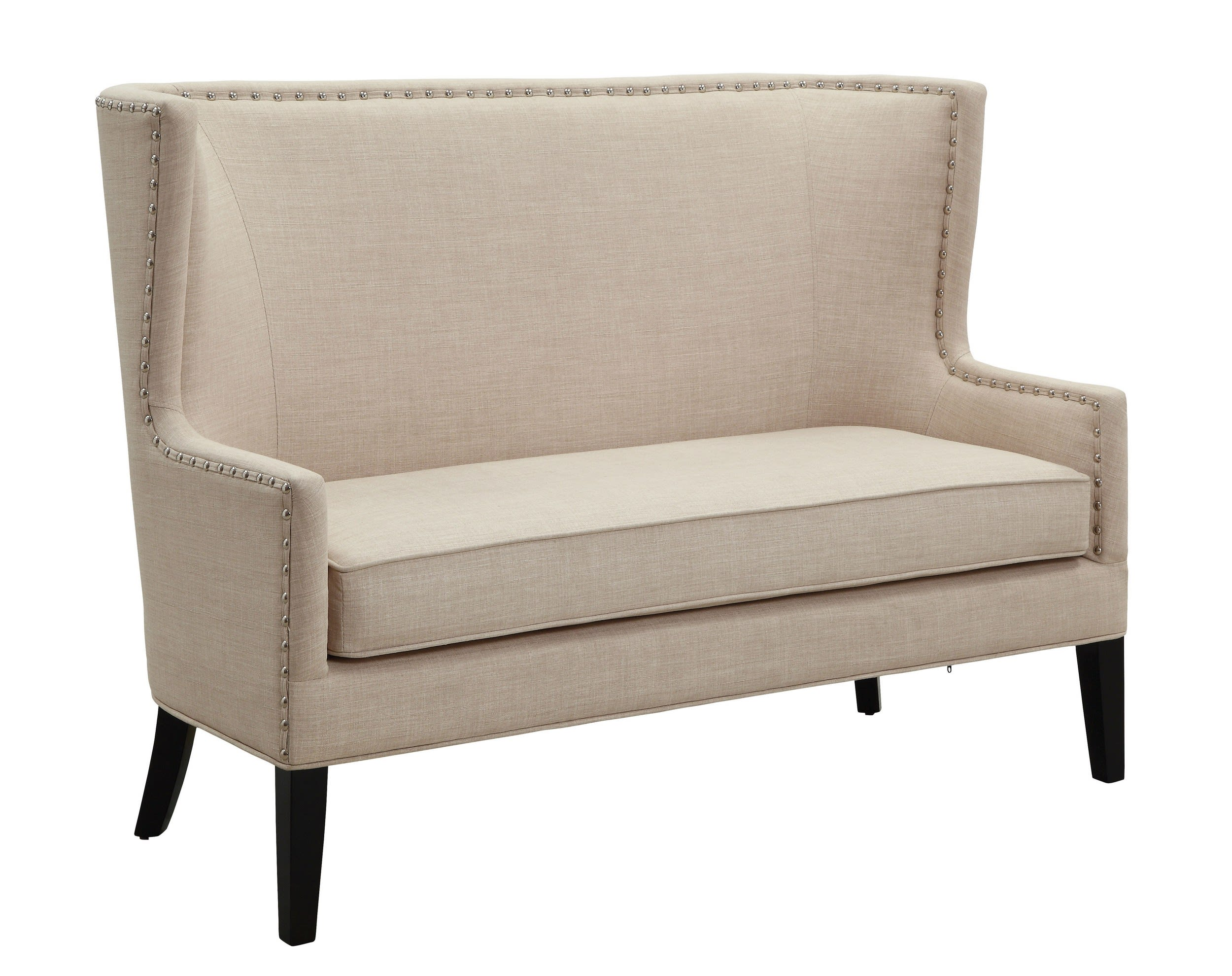 Awe Inspiring Furniture Of America Sophia Beige Contemporary Wingback Love Seat Bench Reviews Goedekers Com Pabps2019 Chair Design Images Pabps2019Com