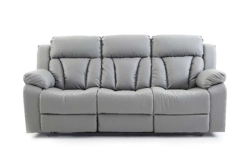 Glory Springfield Gray Faux Leather Reclining Sofa Reviews