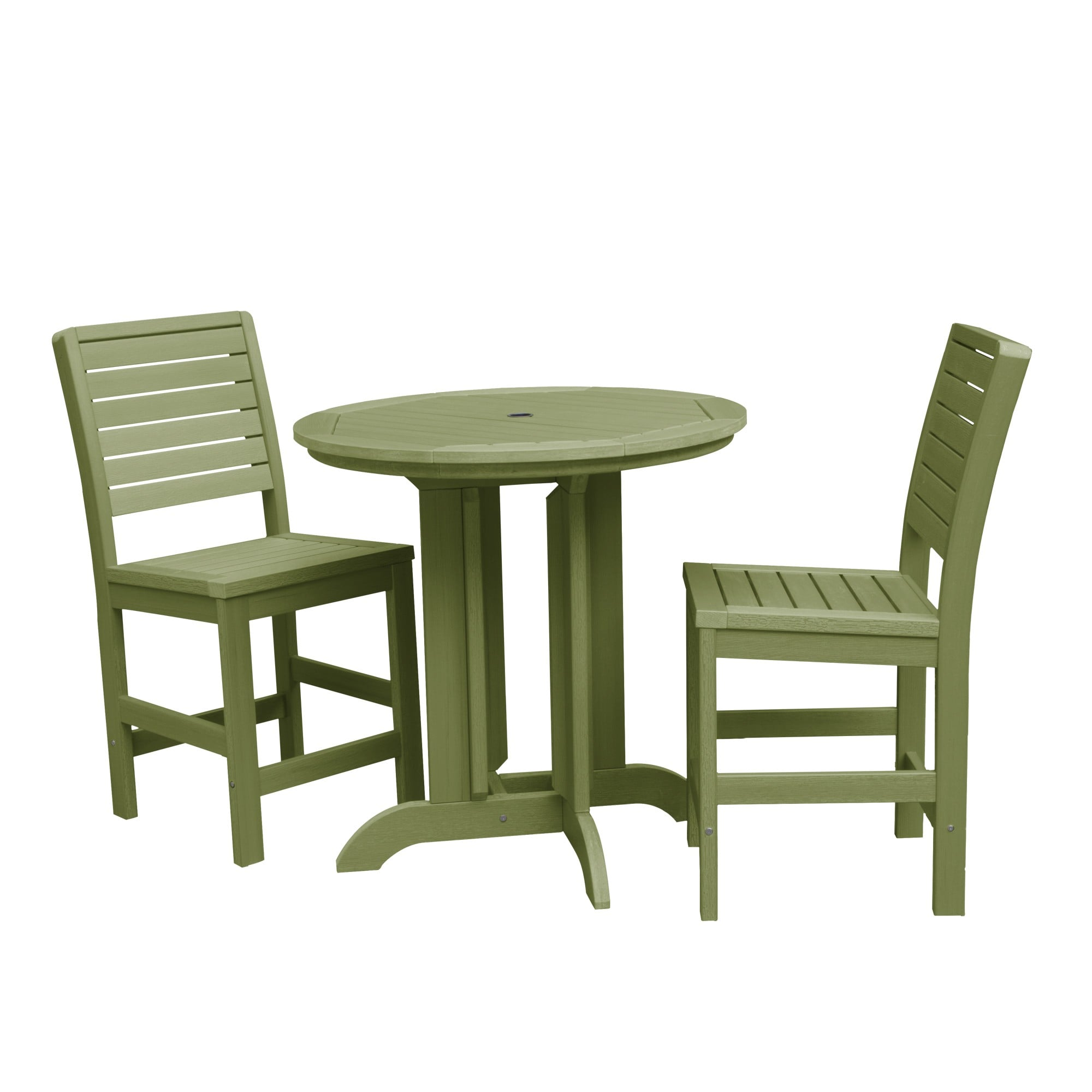 Weatherly Dried Sage 3 Piece Round Counter Dining Set