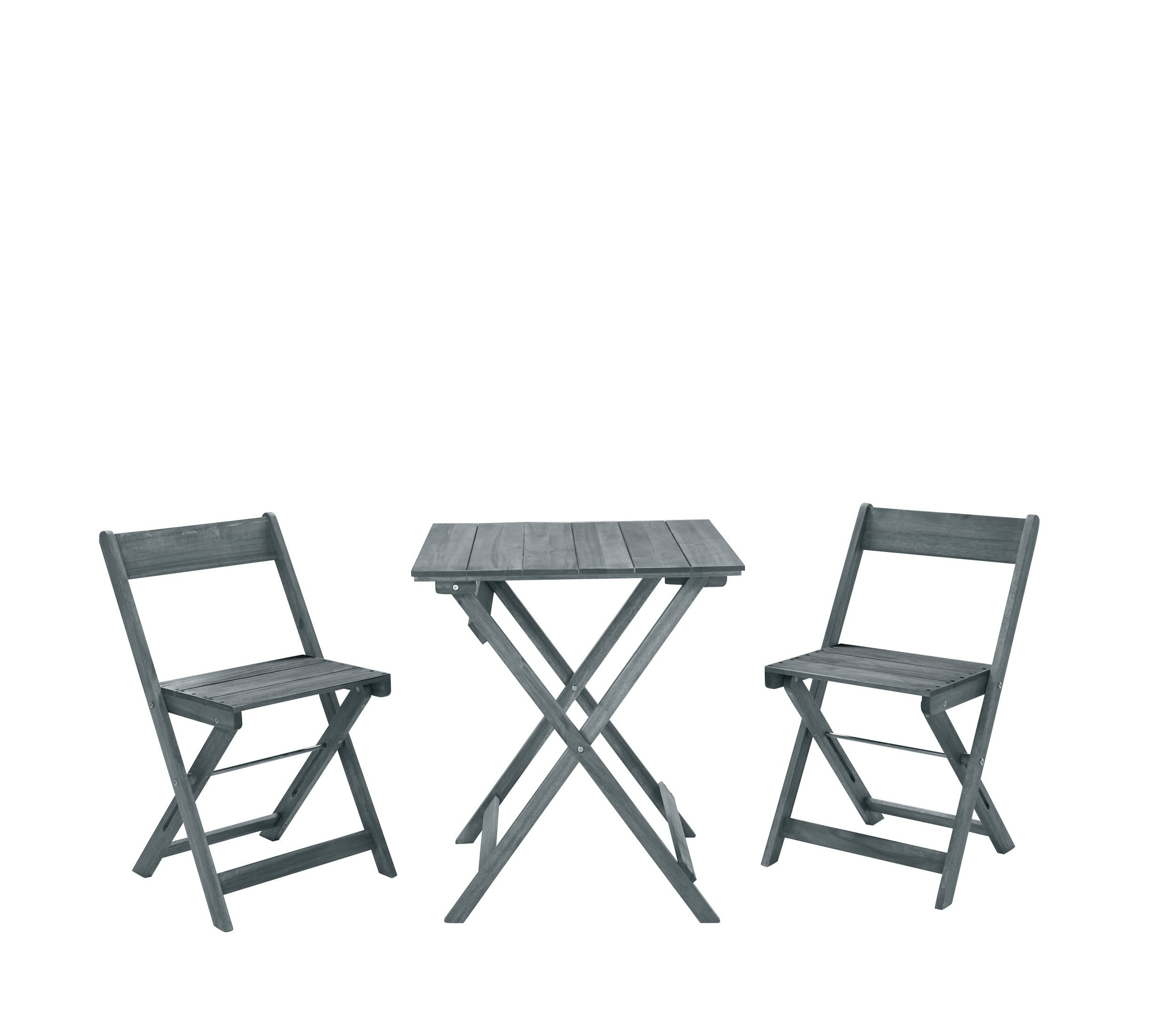 Linon Home Decor Products Inc OD14GRYAS01U Rockport Gray 3 Piece Square Table Set