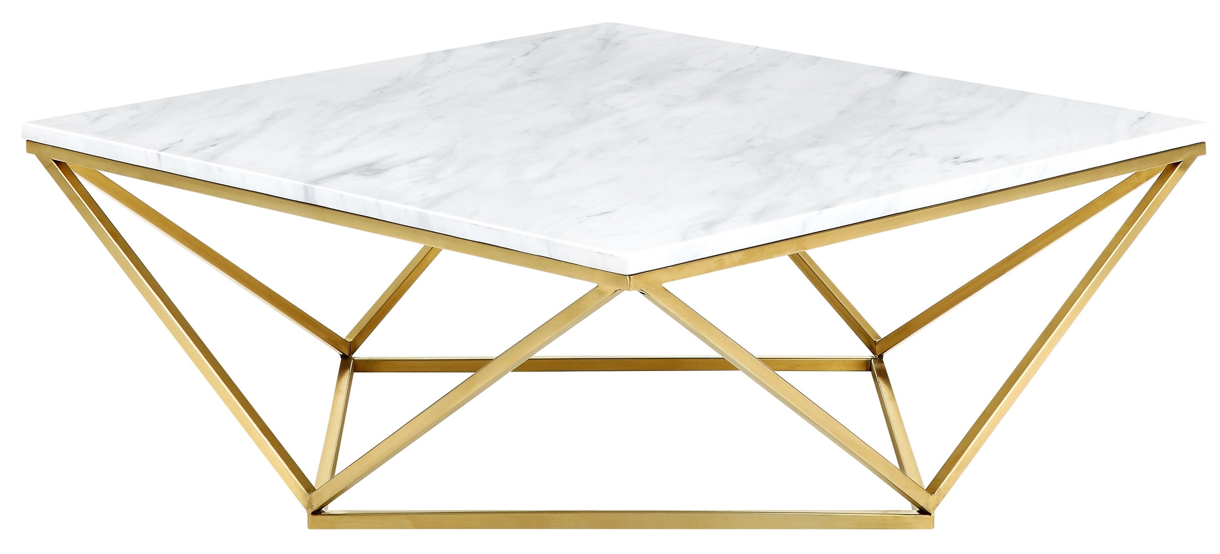 Meridian Mason Gold Coffee Table With Genuine Marble Top Reviews - Genuine marble coffee table
