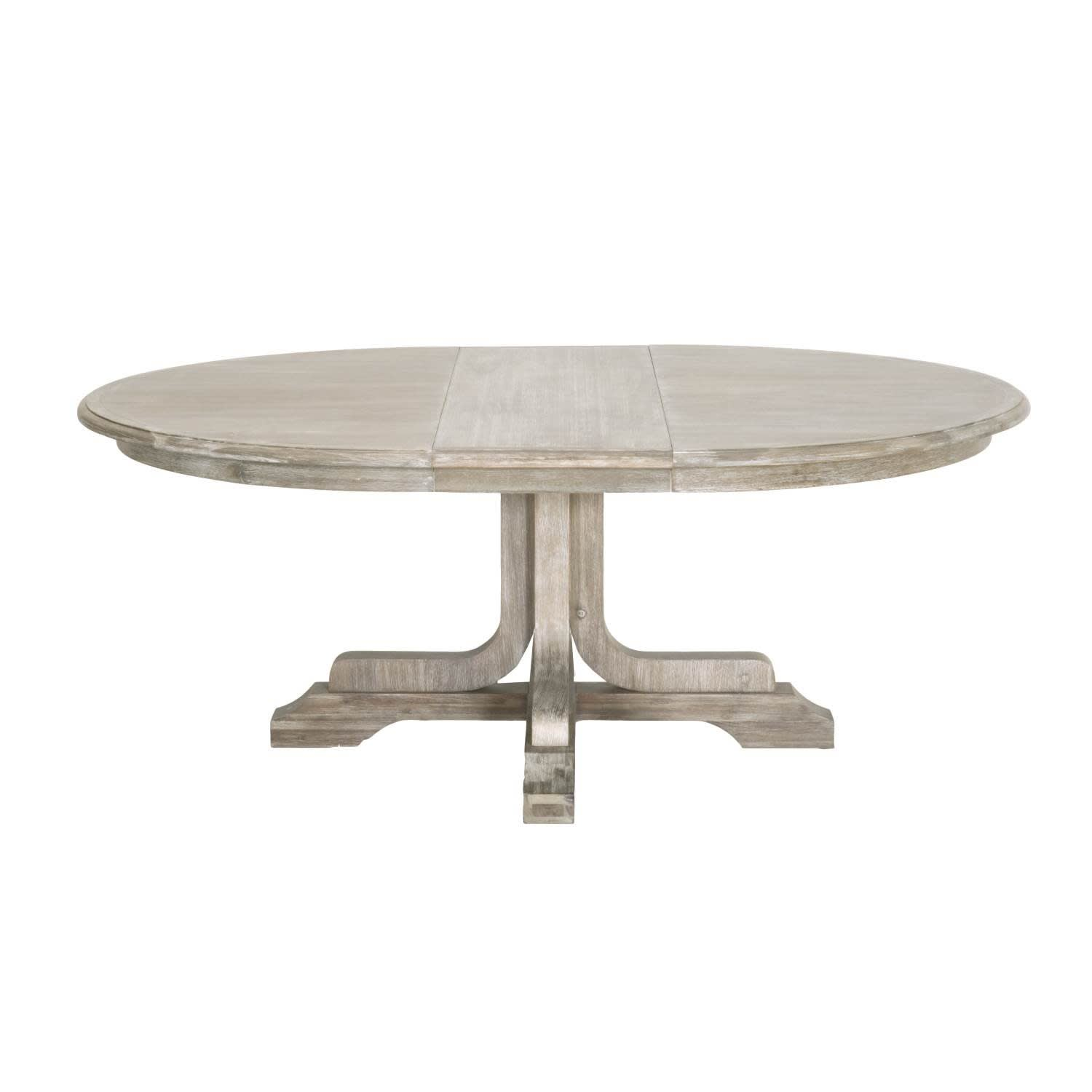 Torrey natural gray acacia veneer 60 round extension dining table