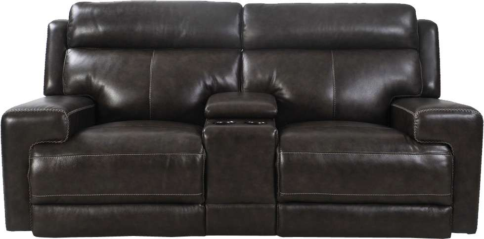 Glacier Graphite Entertainment Loveseat Dual Power Recliner With USB U0026  Power Headrest