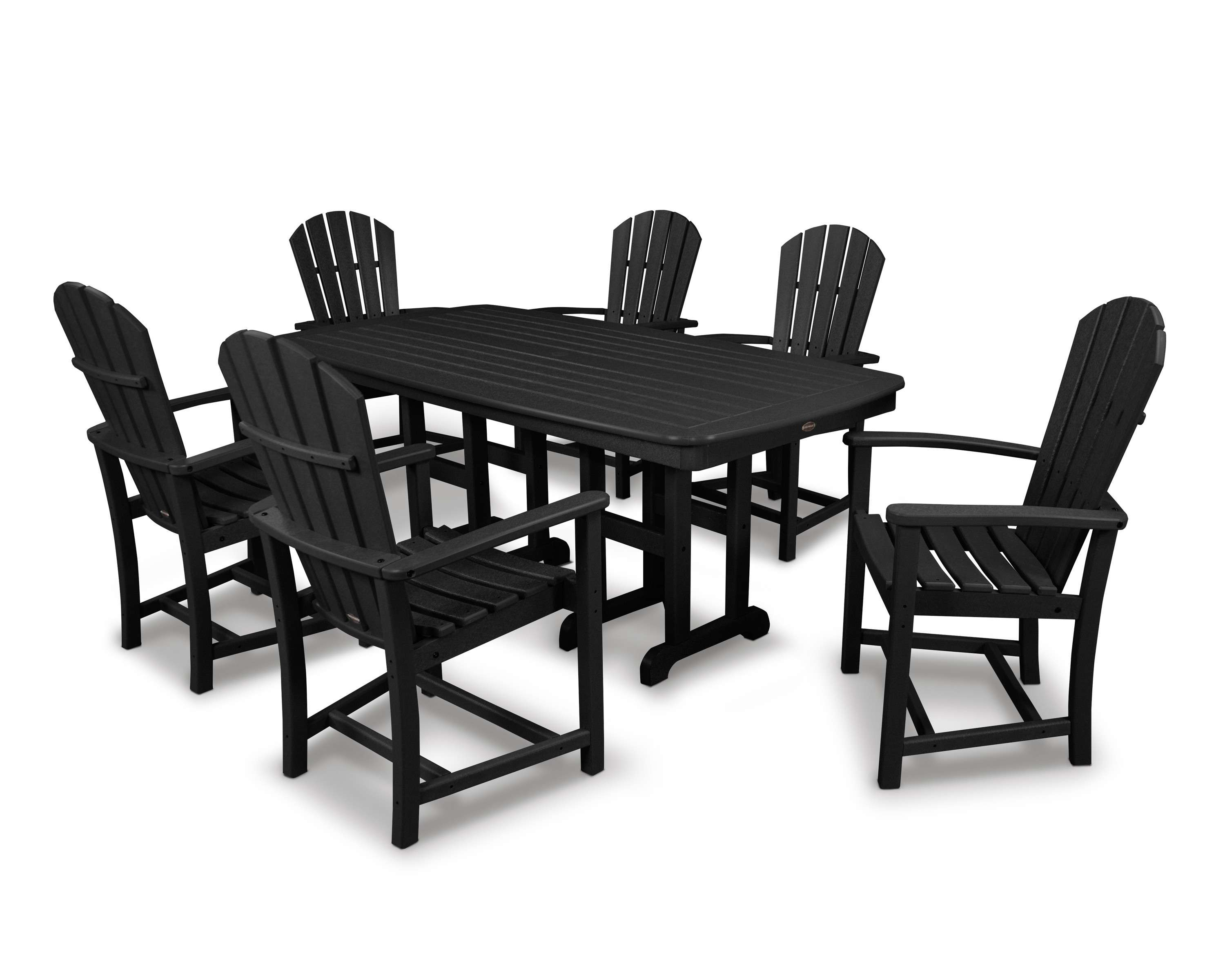 Palm Coast Black 7 Piece Dining Set