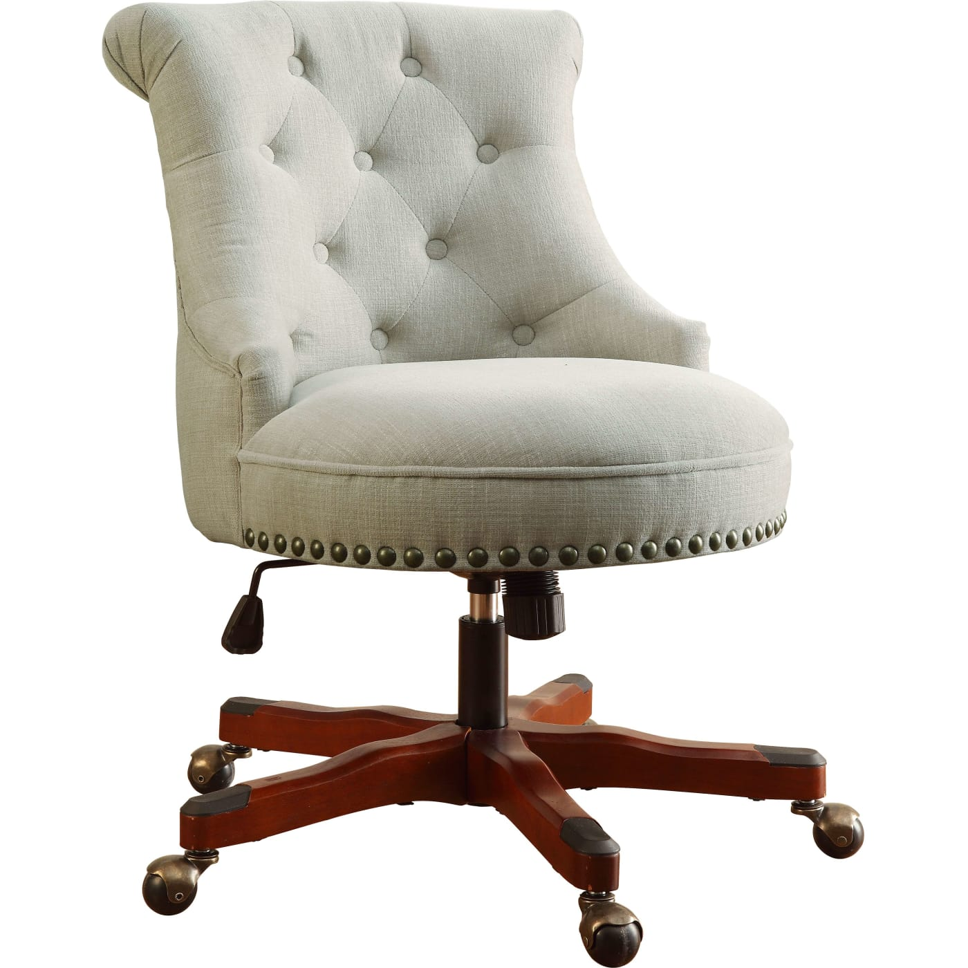 Linon Home Decor Products Inc. Sinclair Natural Office Chair With Dark  Walnut Base U0026 Reviews   Goedekers.com