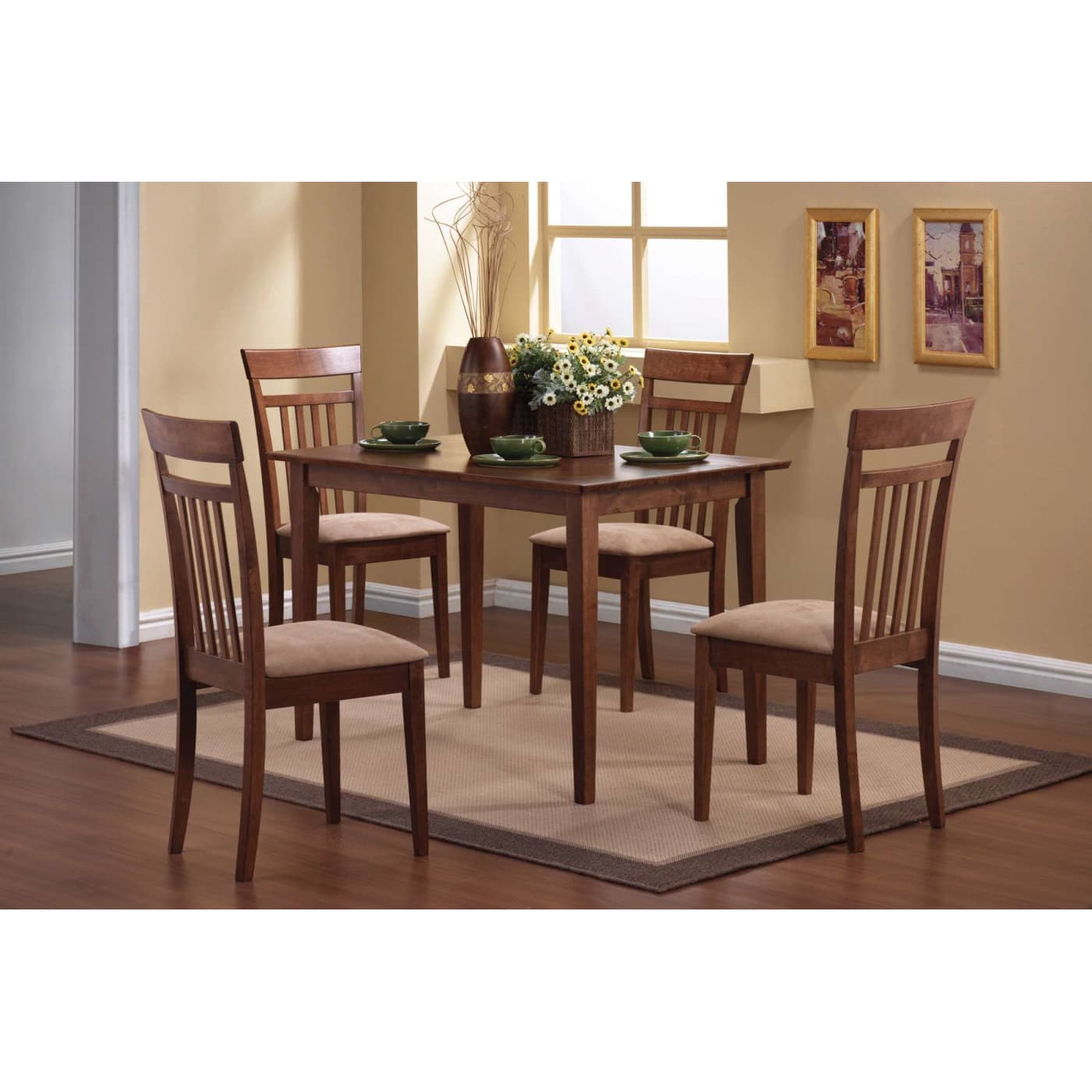Coaster 150430ii. Mix And Match Warm Walnut 5 Piece Dining Set