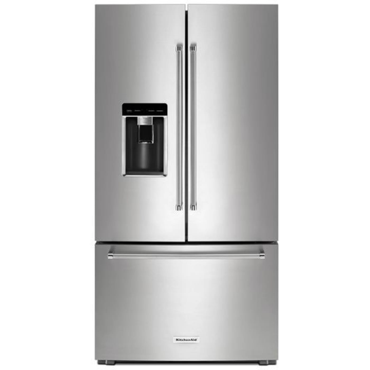 Beau Stainless Steel Counter Depth French Door Refrigerator With PrintShield  Finish. KitchenAid KRFC704FPS ...