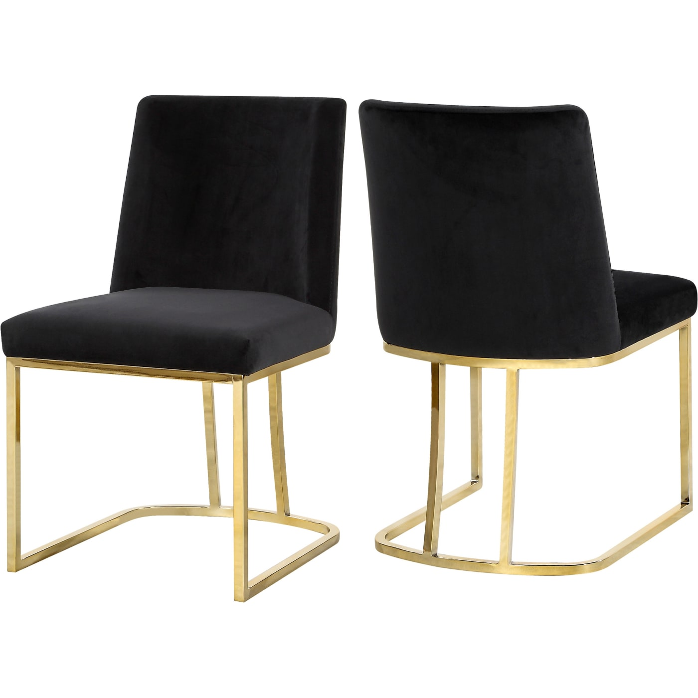 Meridian Heidi Black Velvet Dining Chair Set Of 2 Reviews