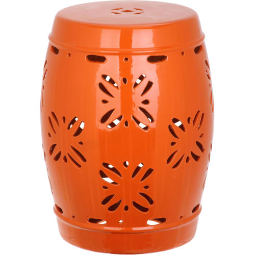 Safavieh Sakura Orange Garden Stool Amp Reviews Goedekers Com