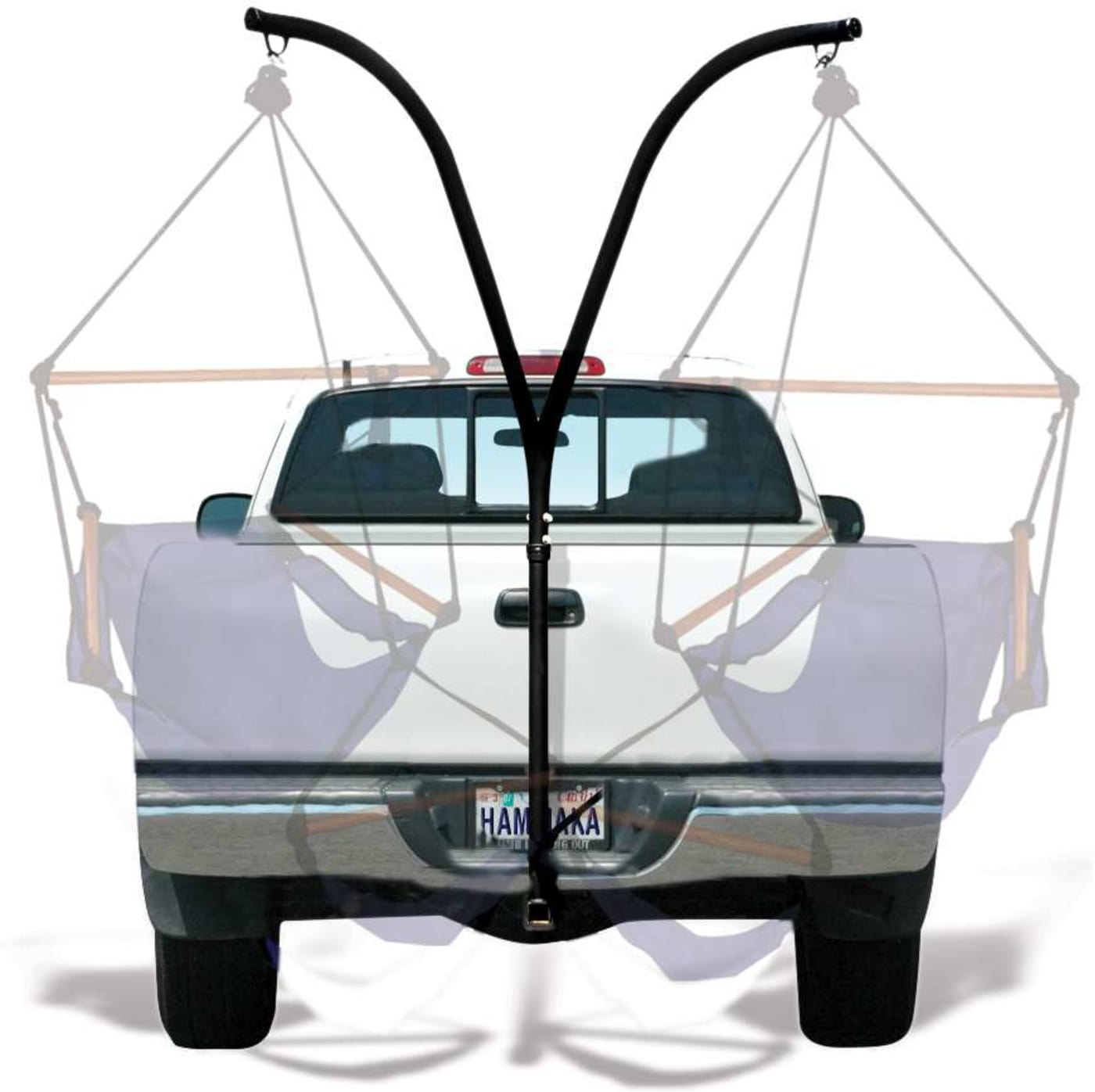 Furniture Colors May Vary Based On Computer Monitor And Room Lighting.  Hammaka Trailer Hitch Stand For Hanging Chairs
