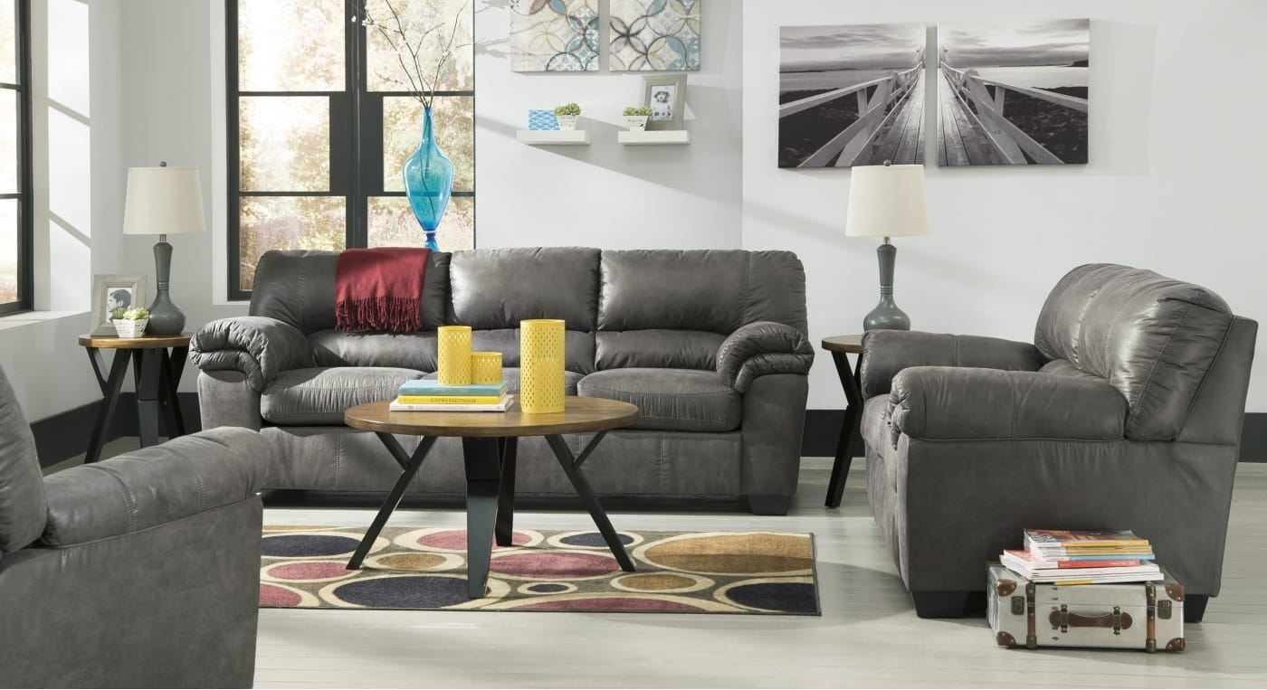 Signature Design By Ashley Bladen Slate 3 Piece Living