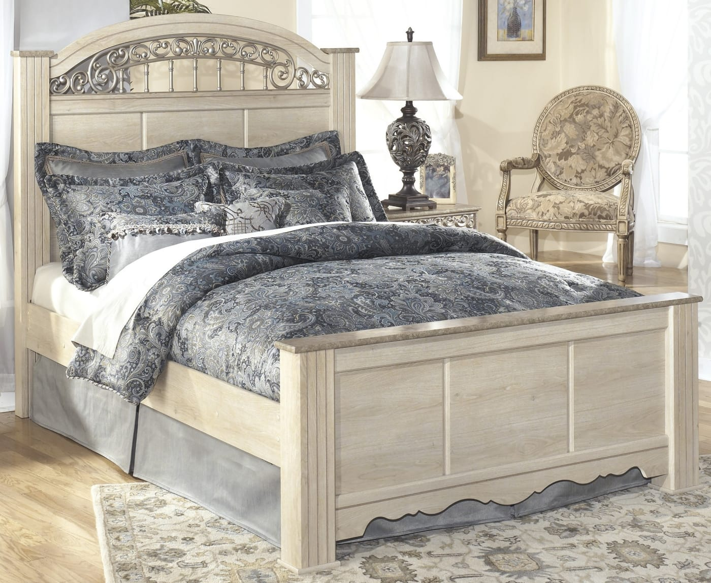 Signature Design By Ashley Catalina Antique White King 5 Piece Bedroom Set Reviews