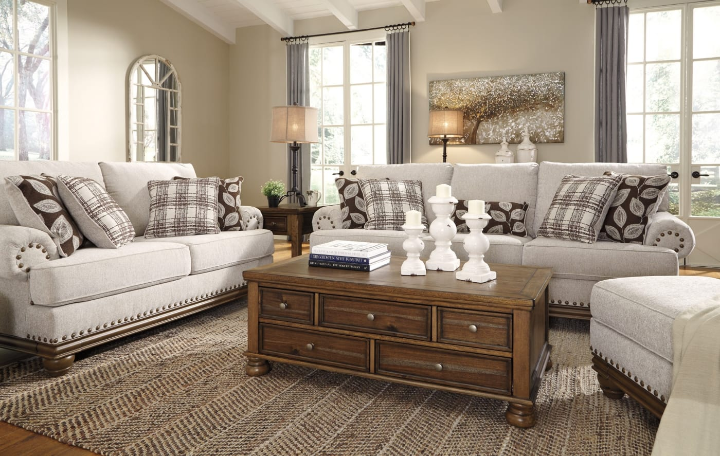 Signature Design By Ashley Harleson Wheat 4 Piece Living