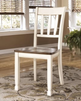 Signature Design by Ashley D583-02 Whitesburg Brown/Cottage White Dining Room Side Chair - Set of 2