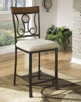 Signature Design by Ashley D314-124 Hopstand Brown Upholstered Bar Stool - Set of 4
