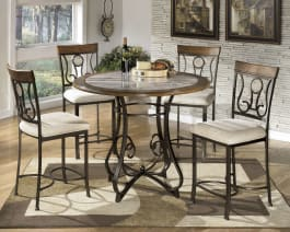 Signature Design by Ashley D314-13B Hopstand Brown Round Dining Room Counter Table Base