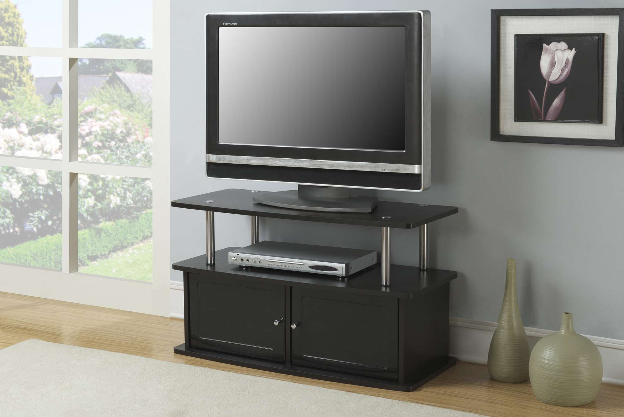 Convenience Concepts Espresso Tv Stand With 2 Cabinets Reviews