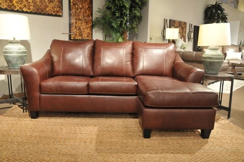 Signature Design by Ashley Fortney Mahogany Queen Sleeper Sofa Chaise &  Reviews - Goedekers.com