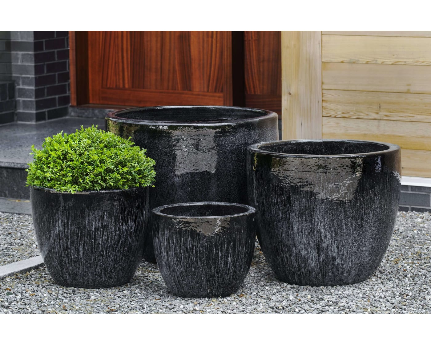 Campania International Marcel Galaxy Black Planter Set Of 4 In Various Sizes Goedekers Com