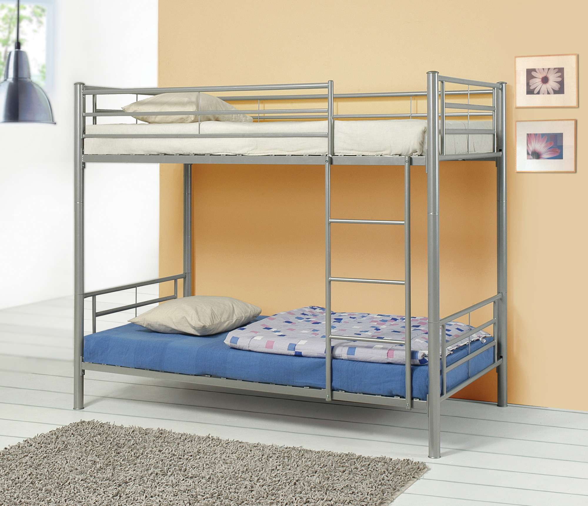 Coaster Denley Silver Twin Over Twin Bunk Bed 460072 Goedekers Com