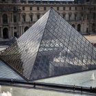 The Glass Pyramid Outside the Louvre