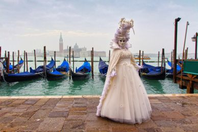 A Woman in Costume of the Venice Carnivale