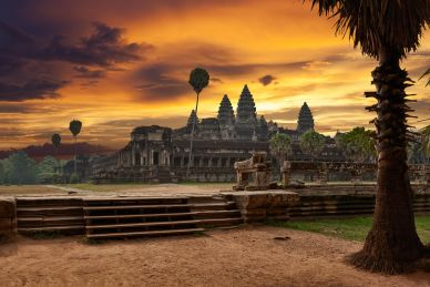 Sunset at Angkor Wat Cambodia