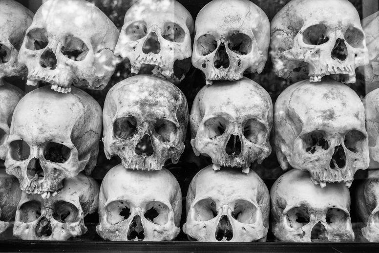 Pile of Skulls in Phnom Penh
