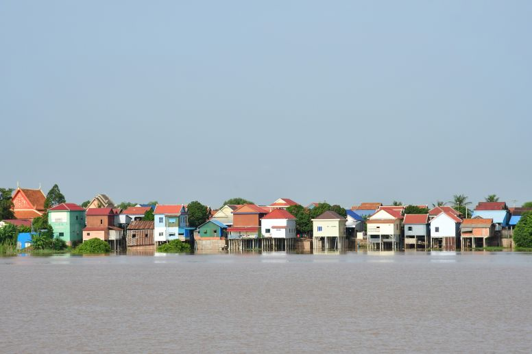 Row of Houses Overlooking the River