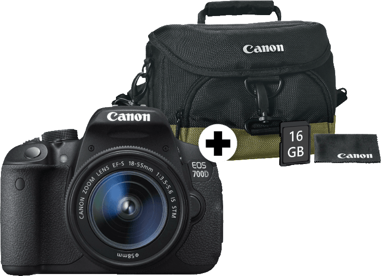 Rent Canon EOS 700D + EF-S 18-55 mm lens from €34 90 per month