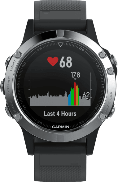 Silver / Black Garmin Fēnix® 5, 240mm .1