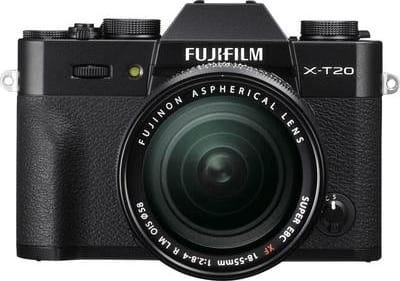 Black Fujifilm Camera with lens X-T20 XF 18-55mm 24MP BLACK.1