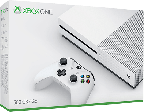 White Microsoft Xbox One S.1