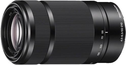 Schwarz Sony SEL 55-210mm F/4,5-6.3.1