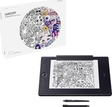Schwarz Wacom Graphics Tablet Intuos Pro Paper L.1