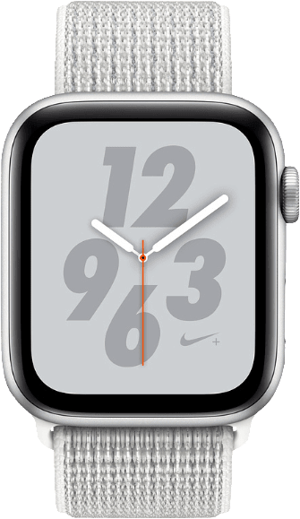 Weiß & Silber Apple Watch Nike+ Series 4 GPS, 44mm.1
