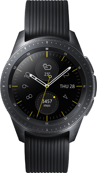 Schwarz Samsung Galaxy Watch LTE, 42mm.1