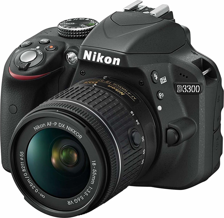 Black Nikon D3300 SLR Digital Camera Kit + AF-P 18-55 VR black.3