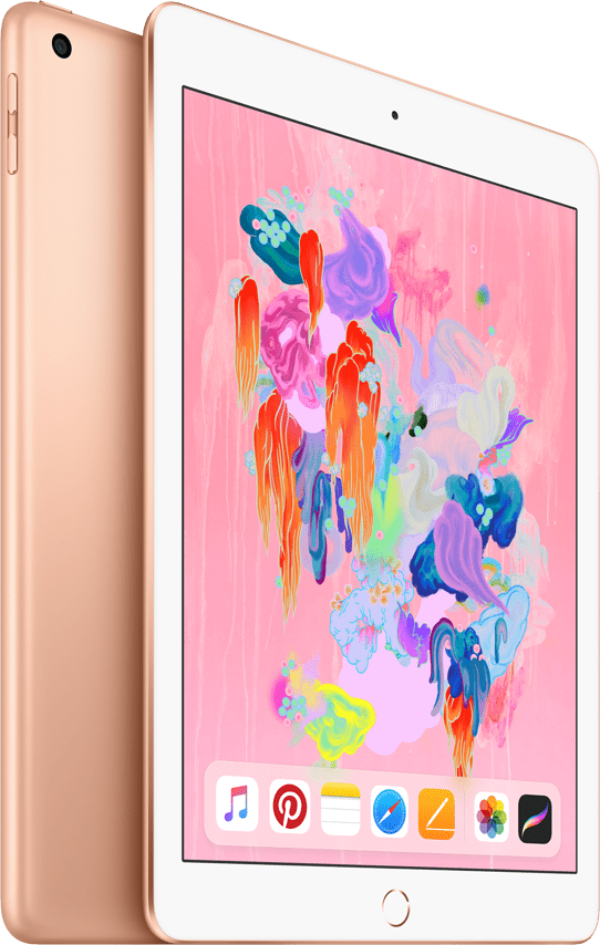 Gold Apple iPad Wi-Fi + Cellular (2018).1