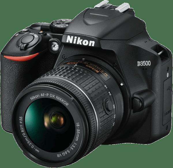 Black Nikon D3500 Kit AF-P DX 18-55 mm VR.1