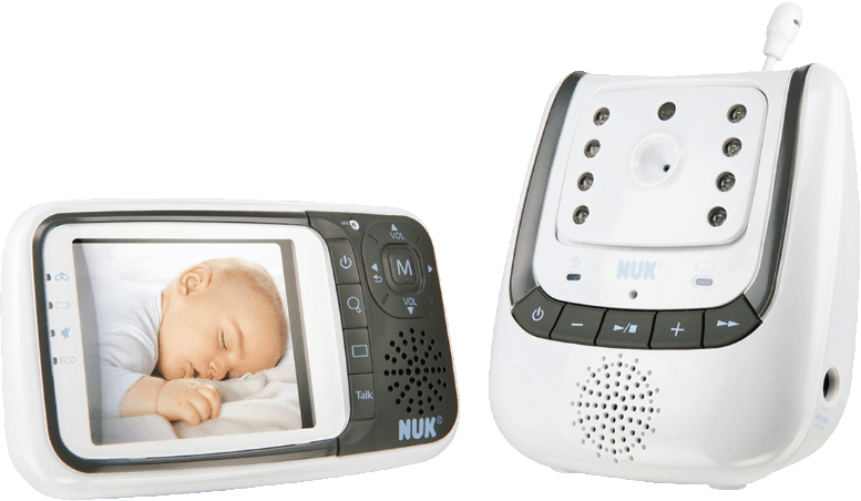 Weiß NUK 1942156284 Eco Control plus Video Babyphone.1