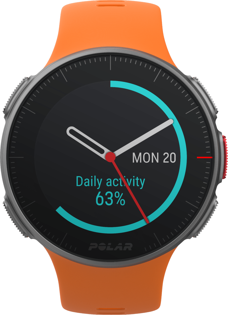 Orange Polar Vantage V GPS Sports watch.3