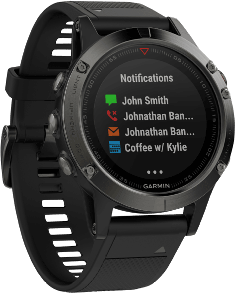 Slate Gray/Black Garmin Fēnix® 5, 235mm.4